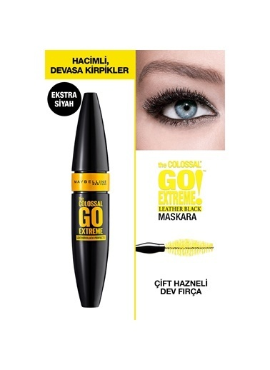 Maybelline Maybelline New York The Colossal Go Extreme Leather Black Maskara - Ekstra Siyah Siyah